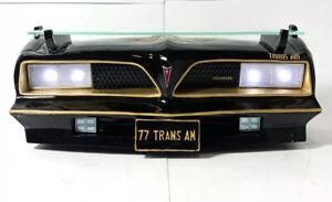 Wall Shelf - Black & Gold 1977 Pontiac Trans Am w/ Light Up Working Headlights