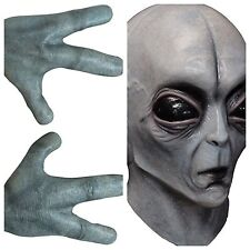 Brand New Area 51 Alien UFO Adult Full Mask And Glove Set