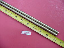 """2 Pieces 3/8"""" C360 BRASS SOLID ROUND ROD 10"""" long New Lathe Bar Stock .375"""""""