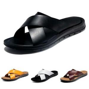 Men's Beach Slingback Slippers Slip On Shoes Open Toe Beach Sports Pool Sandals