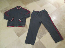 VINTAGE Tommy Hilfiger Track Suit Adult 2XL XL Sailing Jacket Gray Red 90s