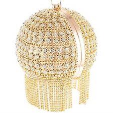 Round Ball Clutch Handbag Dazzling Full Rhinestone Purse Christmas Evening Bag