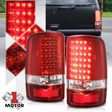 Chrome/Red *FULL LED* Tail Light Brake Lamp for 00-06 Yukon/Tahoe/Chevy Suburban