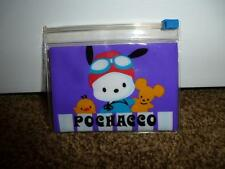 Pochacco Sanrio Dog Purple Holder Pouch Coin Purse Zip 1999 New