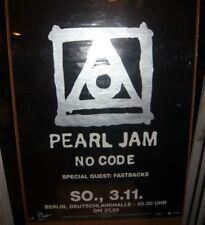 PEARL JAM Fastbacks No Code Tour Berlin Germany 11/3/96 Poster