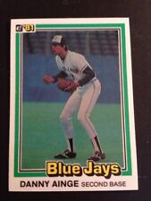 1981 Donruss # 569 Danny Ainge Blue Jays Celtics RC Rookie