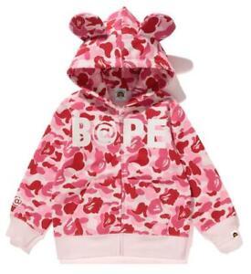 2020 Kids Boy Girl Bear Ear Camo Monkey Zipper Jacket Sweatshirts Hoodies