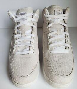 Nike 705066-100 Air Python Snake Hi White Basketball Fashion Sneaker Men Sz 9