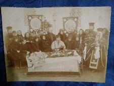 Post Mortem woman open coffin casket vintage real photo 1910's #klpo