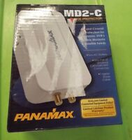 Panamax MD2-C Surge Protector 2 Outlet Direct Plug-In and Coax - White NEW @10