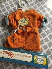 NEW Muffy Vanderbear VTG Splish Splash Orange Bathrobe North American Bear Co