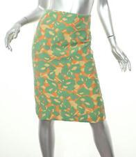 9d1a28f94d Prada Naranja para Mujer + Verde con Textura Estampado Falda de Tubo 38 2 Xs