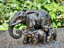 Elefantenfamilie Elefant Zambezi mit 2 Jung-Tieren, ca. (B/H/T) 12 x 9 x 6,5 cm