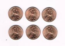 """2015 P&D LINCOLN SHIELD CENT (3 """"P"""" & 3 """"D"""") UNCIRCULATED COINS FROM BANK ROLLS"""