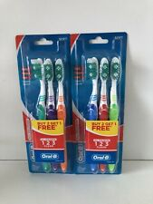 Toothbrushes Oral-B Soft All Rounder Tooth, Tough, Gum Clean 3-Pack ( Lot of 2 )