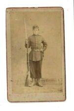 1876 CDV SOLDIER RIFLE GUN SWORD UNIFORM Military Omenta Photo Trondhjem Norway
