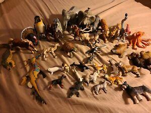 Safari Mixed Animal Figures Lot 30+ 90s-2000s