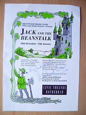 Civic Theatre Rotherham Flyer: Jack and The Beanstalk- Autograph: RICHARD COLSON