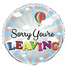 Unique 18 inch Sorry You're Leaving Foil Balloon Party Helium