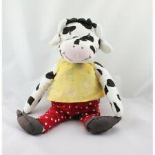 Doudou vache pull jaune pantalon rouge IKEA 35 cm - Vache - Girafe Classique