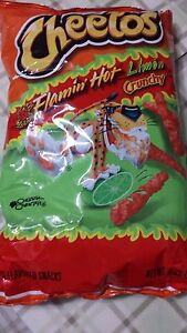 CHEETOS FLAMIN' HOT LIMON CRUNCHY NET WT 8.5 OZ 04/2021 NEW AND FRESH