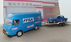 "1/43 SG2 Saviem ""Assistance"" + Remorque porte voiture + Renault 8 Gordini - Lot"