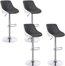 Leather Bar Stools Grey White Bar Chairs Breakfast Kitchen Stool Set