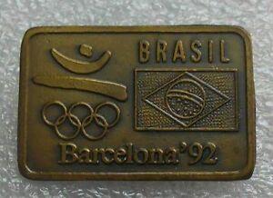 Rare Olympic pin badge NOC BRASIL 1992 BARCELONA SPAIN