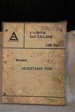 VINTAGE 1977 ALLIS - CHALMERS CORN HEADS ADJUSTABLE ROW PARTS CATALOG 590694