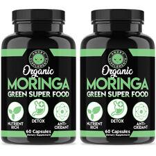 Moringa Oleifera 2 Pack 120 Pills Organic, Natural 100% Pure, Angry Supplements