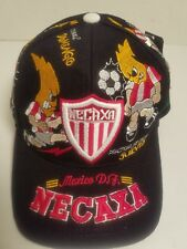 f237caaf7602a Club Necaxa Mexico Embroidered Sewn Black Soccer Futbol Adjustable Back Hat  Cap