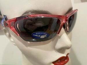 Tifosi Radius Wrap Sunglasses NIB Pink Crystal Interchangeable 3 Lens,Case,Bag