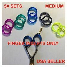 Rubber/Silicone Finger&Thumb Ring Sizing Insert/Grips for Barber Shears Scissors