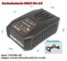 Caricabatteria IMAX H4-AC per LiPO LiFE LiHV 2S 3S 4S 220v modellismo