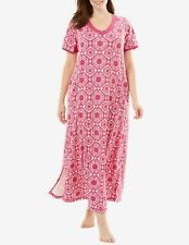 Dreams & Co. Plus Size Bright Berry Short Sleeves  Maxi Lounger Size 5X(38/40)
