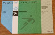 old ticket Olympic Games 1972 Football Denmark vs Brazil in Passau 27.08