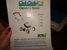 Cub Cadet Owner'S Manual 106F 108C 702A 702E Push Mowers 770-8519M