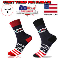 Donald Trump 2020 MAGA Winter Knit Red Beanie Hat Socks 45Th President /