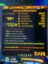"""Borderlands 3 Level 57 Mayhem 10 """"Kaoson"""" Radiation Consecutive (Xbox One)"""