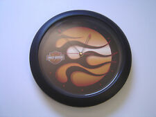 """Harley Davidson Flame Clock Makes 12 Different Sounds for Each Hour 13 1/2"""""""