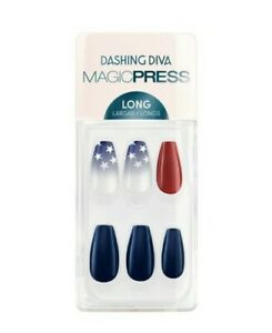 Dashing Diva Stand United Red White & Bl Memorial Day 4th Of July Press On NAILS