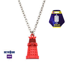 Doctor Who Red Dalek Zinc Alloy Pendant Necklace New Licensed