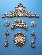 Set of ornate decoative furniture mouldings ideal for any projects Eleven items