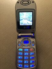 Lg Vx3200 Alltel Silver Blue Talk Text Flip Cell Phone