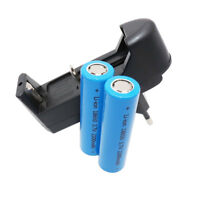 2X 18650 Battery INR High Drain 2200mAh 3.7V Li-ion Rechargeable + Smart Charger