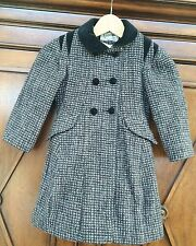 ROTHSCHILD Coat Girl's Pink/Black Coat Wool Blend Coat SIZE 4