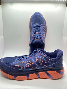 Hoka One One Infinite Running Shoes Womens Size 10 Royal Blue Coral 1009649