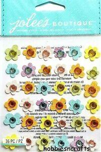 BABY GEMS FLOWERS Jolee's Boutique 3-D Glitter Gemstone Stickers - 36 Flower