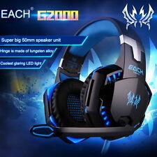 G2000 Spiel Gaming Kopfhörer Headset mit Mikrofon LED Surround Sound Stereo Bass