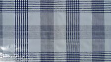 "1.4m/55"" ROUND blue check wipe clean vinyl pvc wipeable oilcloth TABLECLOTH CO"